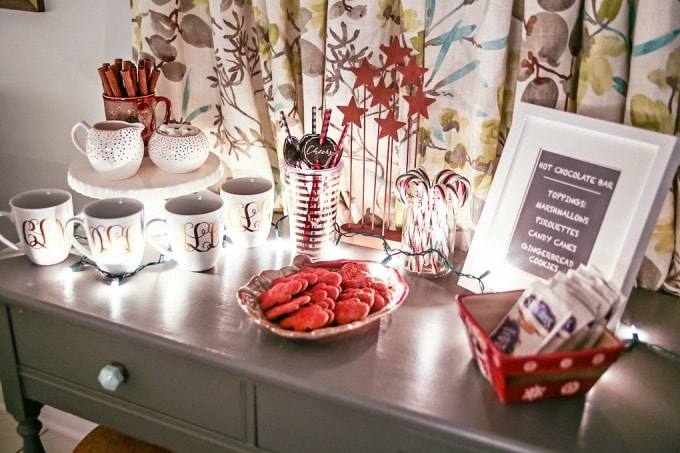 A beautiful Christmas Nights Tour with so many simple, gorgeous holiday decor ideas! Click through to the post to take the entire tour! | JustAGirlAndHerBlog.com