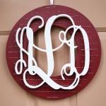 A Monogrammed Christmas Wreath
