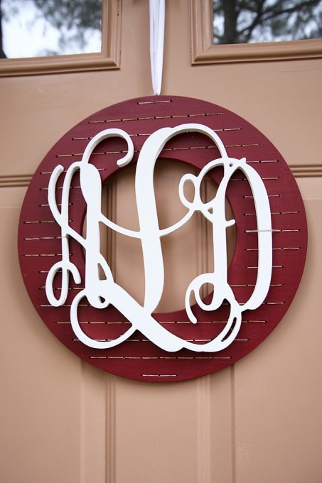 A Monogrammed Christmas Wreath