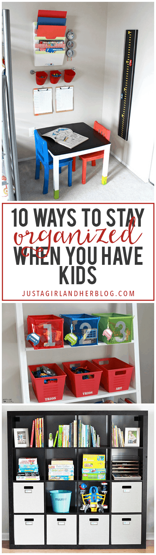 Love these ideas for getting organized when you have kids at home! Click through to see all of her smart tips and tricks!