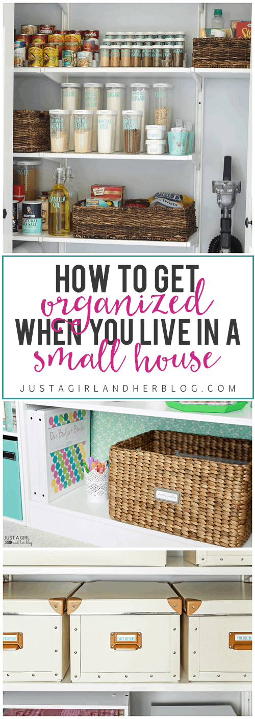 Fantastic tips and tricks for getting organized when you live in a small space! Click through to the post, and get ready to organize your life!