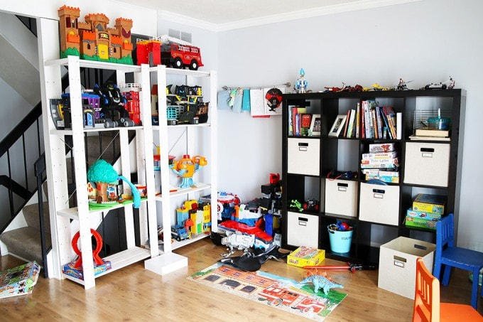 The Cs' Messy Toy Area, Just a Girl and Her Blog