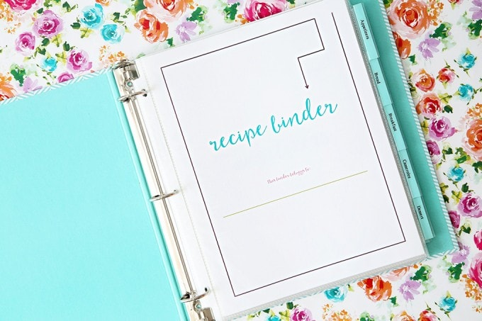 Playful image pertaining to free printable recipe binder
