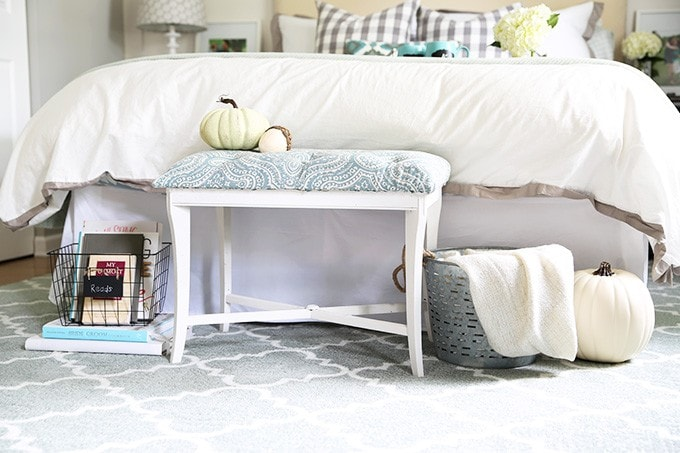 DIY Tufted Bench at Just a Girl and Her Blog