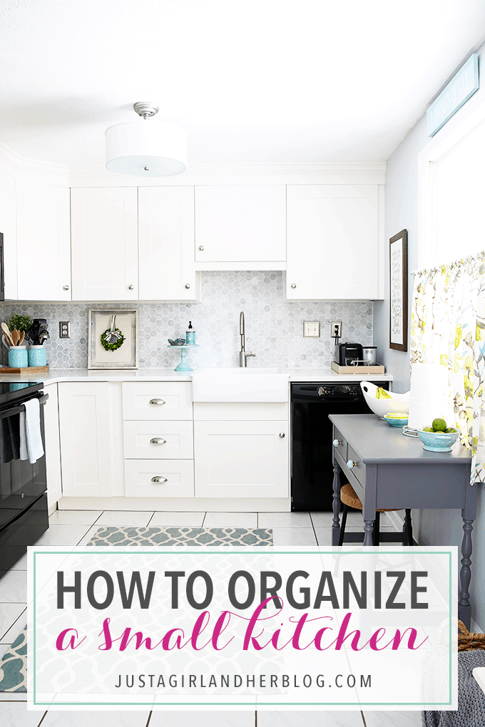 How To Organize A Small Kitchen Just A Girl And Her Blog