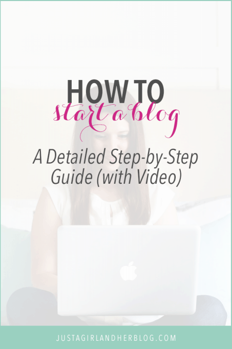 Learn how to start a blog with this detailed step by step guide! Starting a blog is easier than you think!