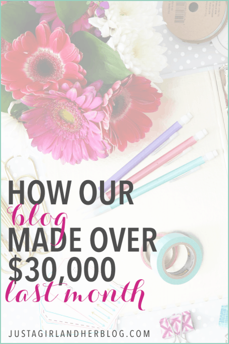 This couple made over $30,000 from their blog last month, and they explain how they did it in this post! Such great insight for anyone who wants to start a blog or online business! Click through to the post for details!
