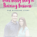 From Hobby Blog to Thriving Business: Our Blogging Story