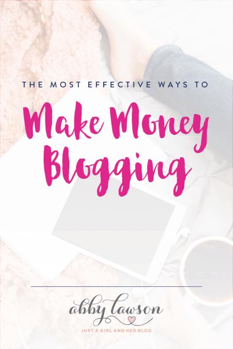 The Most Effective Ways to Make Money Blogging
