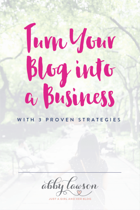 Is a blog a business? Turn your blog into a profitable business with these three proven strategies! Click through to the post to read more!