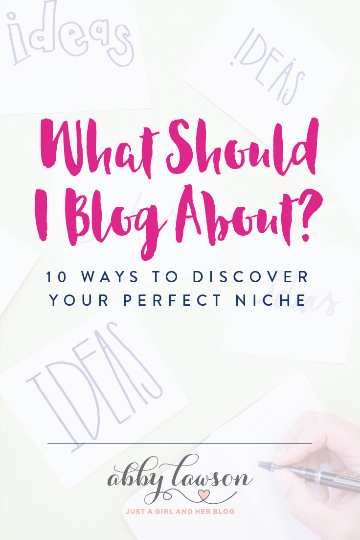If you want to start a blog but aren't sure what to blog about, don't miss this post! It has great tips and tricks for helping you find the perfect blog niche. Click through to the post to read them all!
