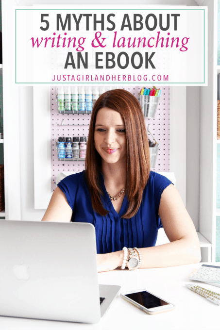 These myths about writing eBooks hold so many people back from achieving bigger and better things with their business! Don't believe them! Click through to the post to read more!