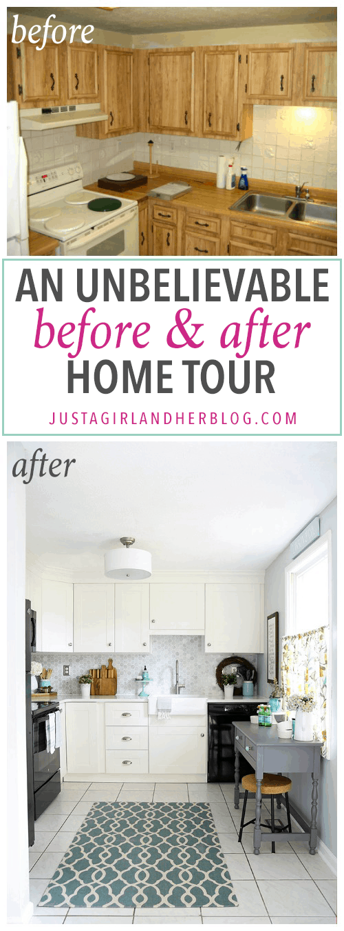 This is an incredible transformation of an entire home from ugly and outdated to light bright and beautiful pop over to the post to see the whole before