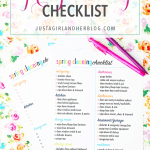 A Simple Spring Cleaning Checklist