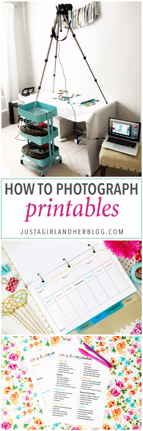 If you've ever been frustrated by trying to photograph printables, don't mis this post! She walks through her whole photography process step by step, and it's super helpful! Click through to the post to see how she does it!