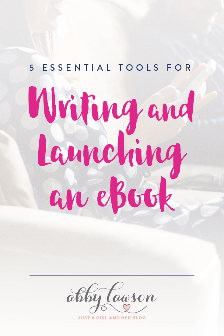 This post lists all of the tools you need to write and launch an eBook-- such helpful info! Pop over to the post to see what you'll need!