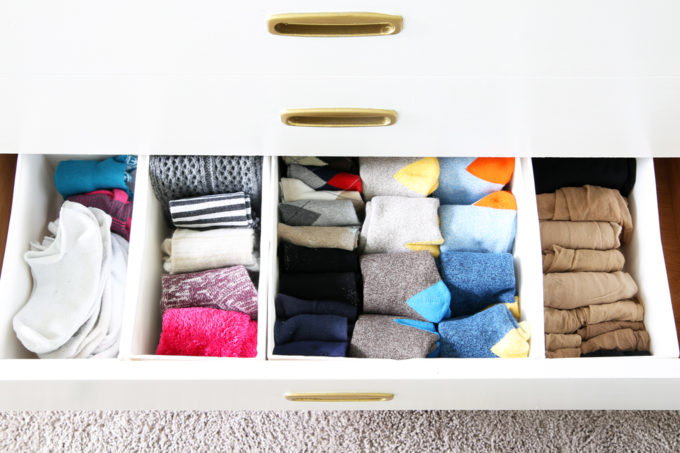 IKEA SKUBB Boxes Used to Organize a Sock Drawer