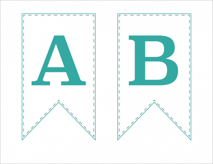 graphic relating to Free Printable Alphabet Letters for Banners called No cost Printable Bunting Banner Abby Lawson