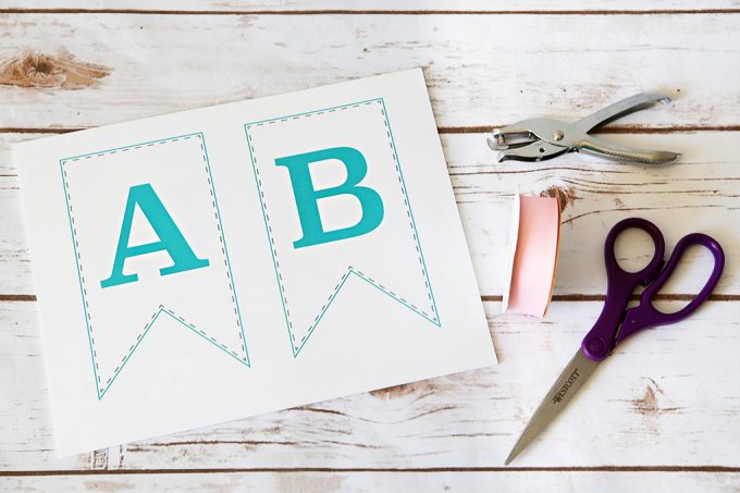 love this cute free printable bunting banner it includes every letter so it could