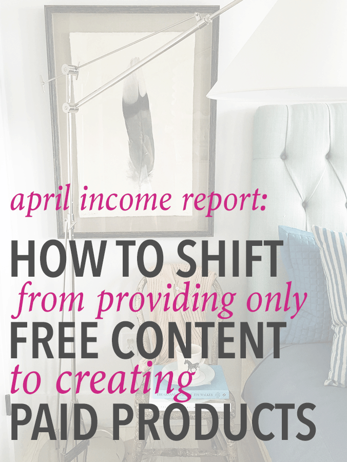 If you've ever thought of selling your own products on your blog, this post helps you go through the process of shifting from only free content to selling paid products! Click through to the post to read more!