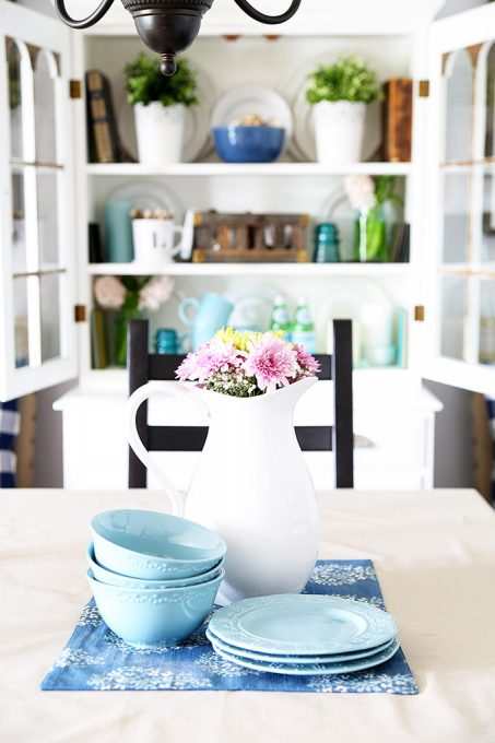 Dining room decor at JustAGirlAndHerBlog.com
