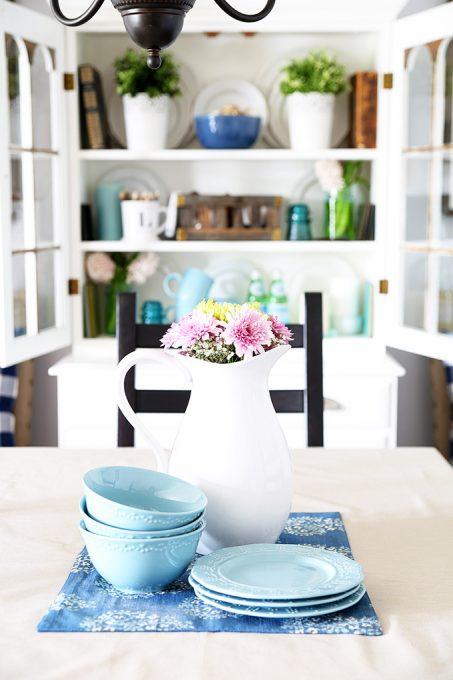 Dining room decor at JustAGirlAndHerBlog.com