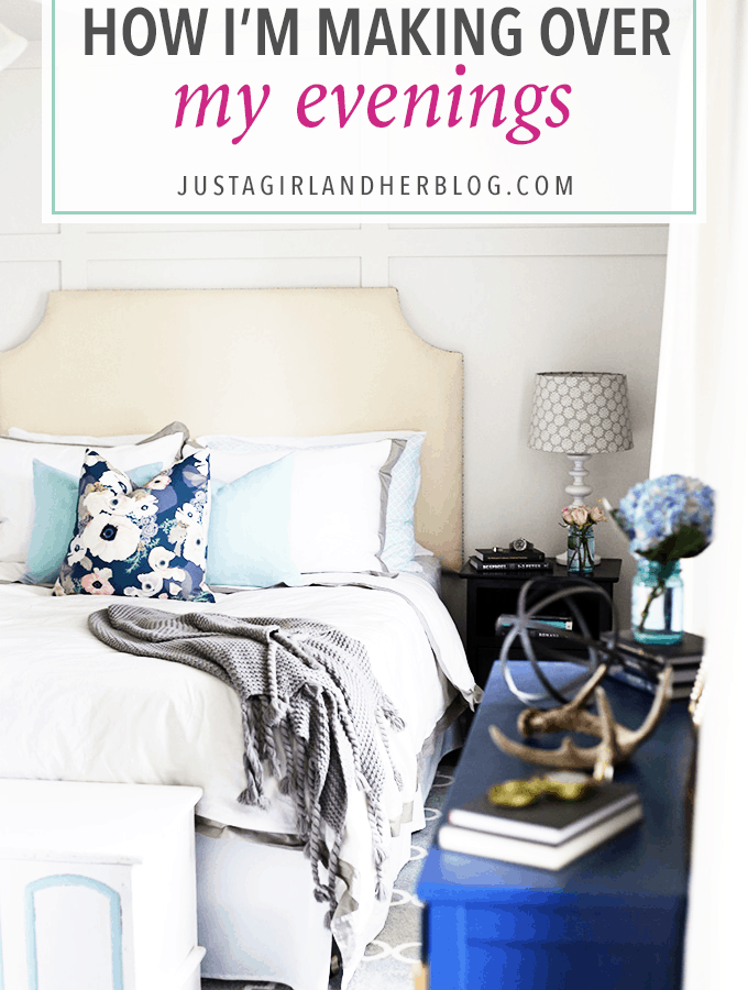 I was so tired of always feeling behind and like I couldn't be productive. Changing the way I approached my evenings made a HUGE difference-- click through to the post to see how!