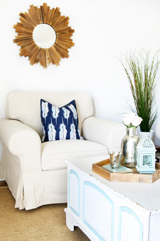 An Easy And Inexpensive Way To Change The Look Of Your Living Room
