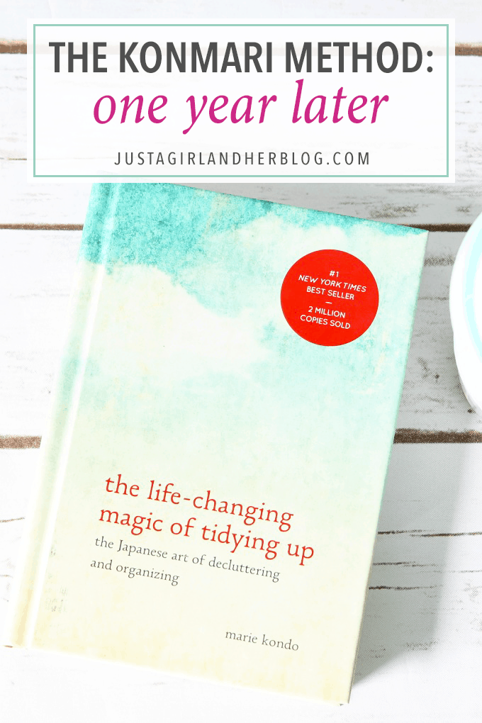 31380a8c7 The KonMari Method  One Year Later - Just a Girl and Her Blog