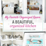 My Favorite Organized Space: A Beautiful, Organized Kitchen