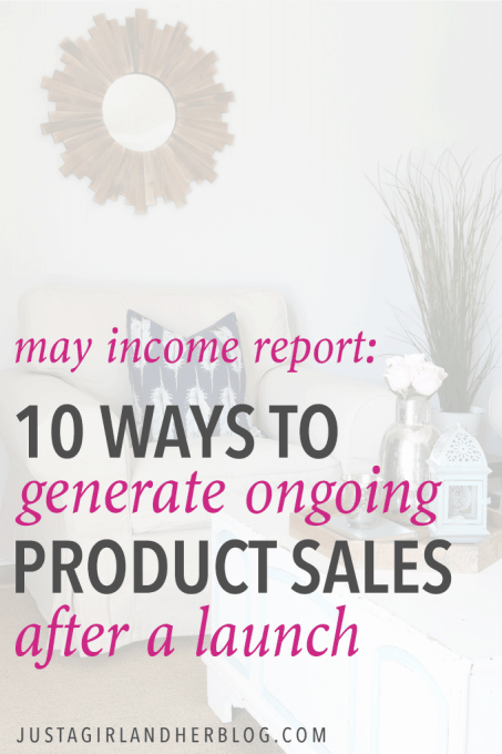 Such helpful tips and tricks for generating ongoing product sales after a launch from a couple who blogs full time! Click through to read their full income report!