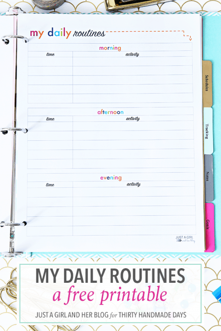 Love this printable for helping to establish daily routines! It's easy to create a morning, afternoon, and evening schedule so that the whole family is on the same page!