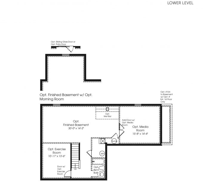A preview of our new home build with Ryan Homes! This is the Palermo lower level floor plan.