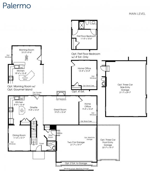 A preview of our new home build with Ryan Homes! This is the Palermo main level floor plan.