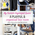 A Playful and Organized Boy Room