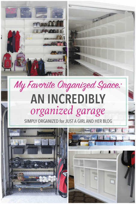 An Incredibly Organized Garage - Just a and Her Blog on clean my garage, remodel my garage, super organize your garage, organizing my garage, ways to organize a garage,