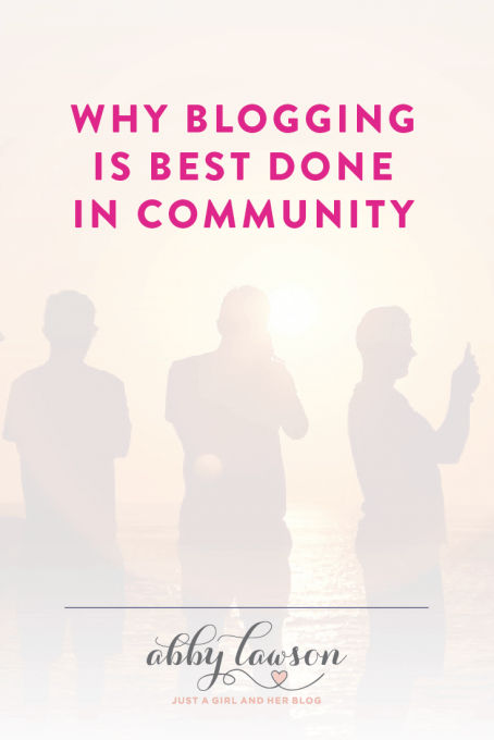 Learn why blogging is best done in community and why it's so important to find your tribe!