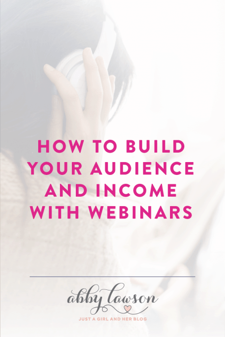 How to Build Your Audience and Income with Webinars