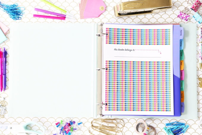 Student Binder Cover, Student Binder with Free Printables for Back-to-School, study aids, high school organization, college organization, middle school organization, pretty printables, printables for girls, printables for boys, resources for students, back to school, graduation gift, student organization, teacher printables