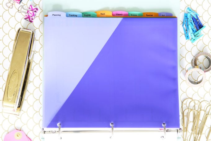 colorful tab dividers with pocket for 3 ring binder student binder with free printables for