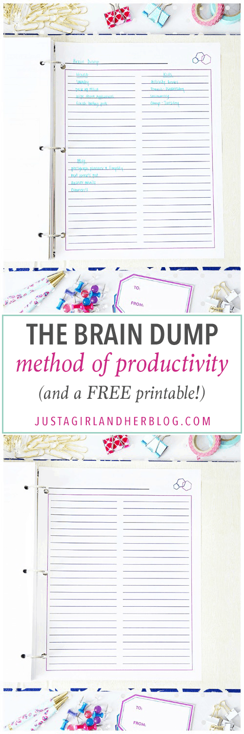 Love this super simple method of productivity! I would be so much less stressed out if I did this! Click through to the post to snag the cute free printable!