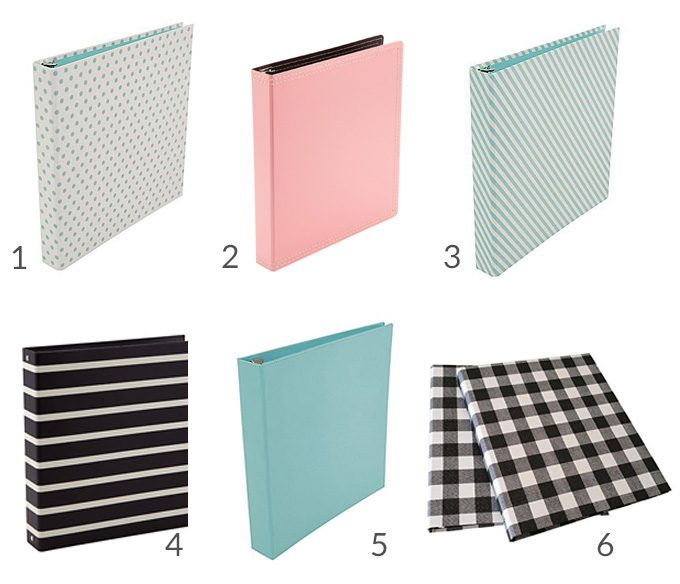 Love these beautiful binder ideas for a home binder, planner, or school classes! Click over to the post for direct links to their sources!
