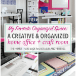 A Creative and Organized Home Office + Craft Room