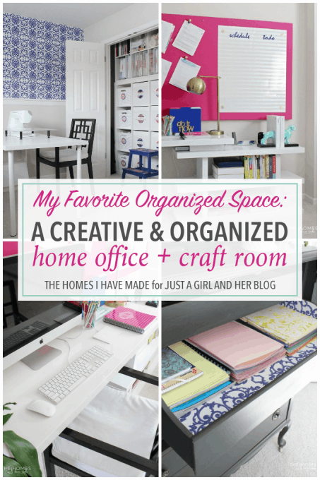 A Creative and Organized Home Office Craft Room Just a Girl and