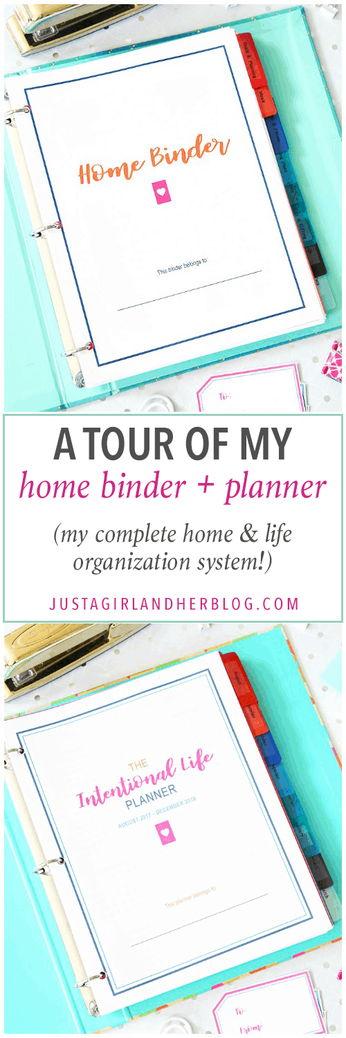 Home Organization- Home Binder and Planner Tour, organization, organizational printables, organized, productivity, planning, productive, pretty printables, organize your life, organized life, home management binder, how to get organized