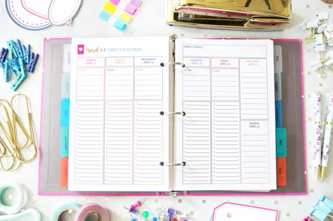 Monthly Plan, Goal Setting, The Intentional Life Planner, Home Organization- Home Binder and Planner Tour, organization, organizational printables, organized, productivity, planning, productive, pretty printables, organize your life, organized life, home management binder, how to get organized