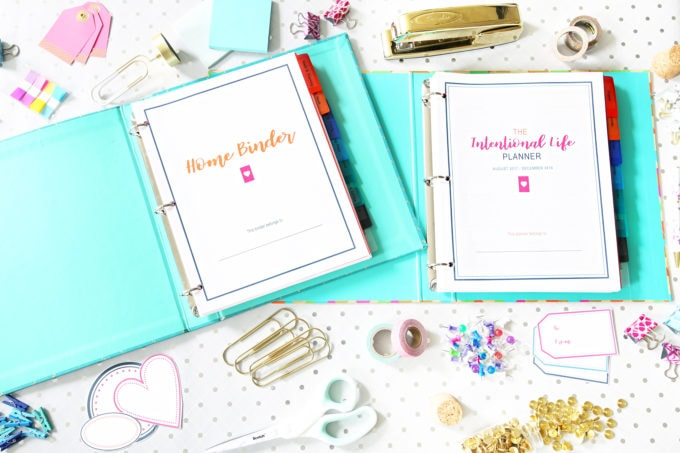 Simplify Home Binder and The Intentional Life Planner, Home Organization- Home Binder and Planner Tour, organization, organizational printables, organized, productivity, planning, productive, pretty printables, organize your life, organized life, home management binder, how to get organized