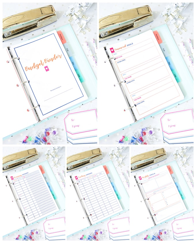Budget Binder, Simplify Home Binder, Home Organization- Home Binder and Planner Tour, organization, organizational printables, organized, productivity, planning, productive, pretty printables, organize your life, organized life, home management binder, how to get organized