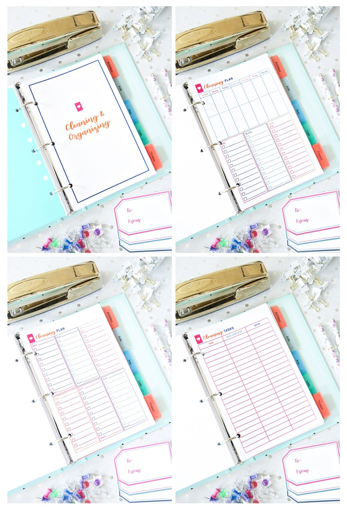 Cleaning and Organization, Simplify Home Binder, Home Organization- Home Binder and Planner Tour, organization, organizational printables, organized, productivity, planning, productive, pretty printables, organize your life, organized life, home management binder, how to get organized