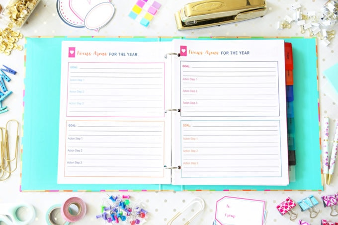 Yearly Plan, Goal Setting, The Intentional Life Planner, Home Organization- Home Binder and Planner Tour, organization, organizational printables, organized, productivity, planning, productive, pretty printables, organize your life, organized life, home management binder, how to get organized
